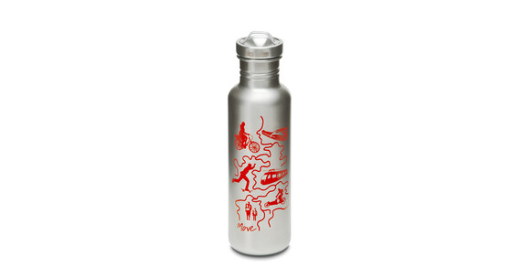 Klean Kanteen Classic Graphics Collection Trinkflasche mit All-Stainless Loop Cap 800ml move